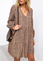 Leopard_Printed_Splicing_VNeck_Mini_Dress_without_Necklace__Khaki