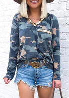 Camouflage_Printed_Sequined_Splicing_Blouse_without_Necklace