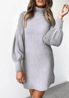 Solid_Knitted_Turtleneck_Lantern_Sleeve_Mini_Dress__Light_Grey