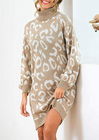 Leopard_Printed__Long_Sleeve_Knitted_Winter_Casual_Dress__Khaki