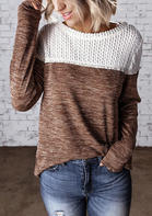 Color_Block_Knitted_Splicing_Blouse__Brown