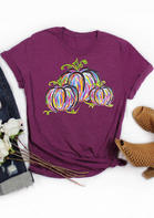 Colorful_Pumpkin_TShirt_Tee__Plum
