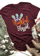 Feather_Thankful_And_Blessed_TShirt_Tee__Burgundy