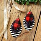 MultiLayered_Sequined_Striped_Leather_Earrings