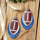 Football_Sequined_ThreeLayered_PU_Leather_Earrings
