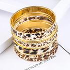 Leopard_Printed_Rhinestone_MultiLayered_Bracelet