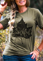 Thankful_Maple_Leaves_TShirt_Tee__Army_Green