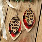 Plaid_Leopard_Printed_ThreeLayered_Earrings