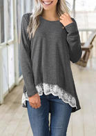 Lace_Splicing_Long_Sleeve_Button_Blouse__Dark_Grey