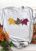 Leopard_Printed_Maple_Leaves_TShirt_Tee__Gray