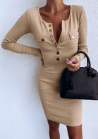 Solid_Button_Bodycon_Dress_without_Necklace__Khaki