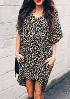 Leopard_Printed_VNeck_Asymmetric_Mini_Dress_without_Necklace