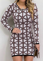 Geometric_Printed_Bodycon_Dress_without_Necklace__Multicolor