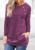 Solid_Pocket_Buton_Blouse__Plum