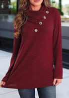 Solid_Button_Long_Sleeve_Blouse__Burgundy