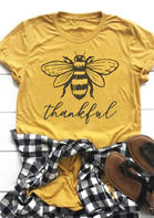 Thankful_Bee_ONeck_TShirt_Tee__Yellow
