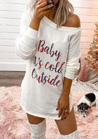 Baby It's Cold Outside Mini Dress - White