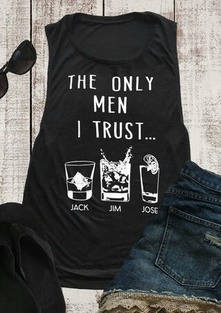 The Only Man I Trust Tank - Black