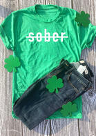 Sober T-Shirt Tee - Green