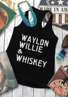 Waylon Willie & Whiskey Casual Tank