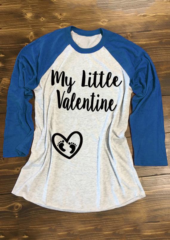 My Little Valentine & Heart Design Baseball T-Shirt