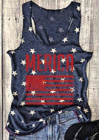 Merica American Flag Tank
