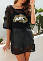 New Arrivals Leopard Lip Casual Cover Up