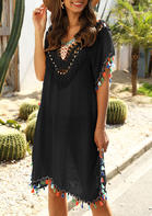 Summer Outfits Tassel Hollow Out Cover Up