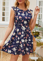 New Arrivals Floral Ruffled Mini Dress