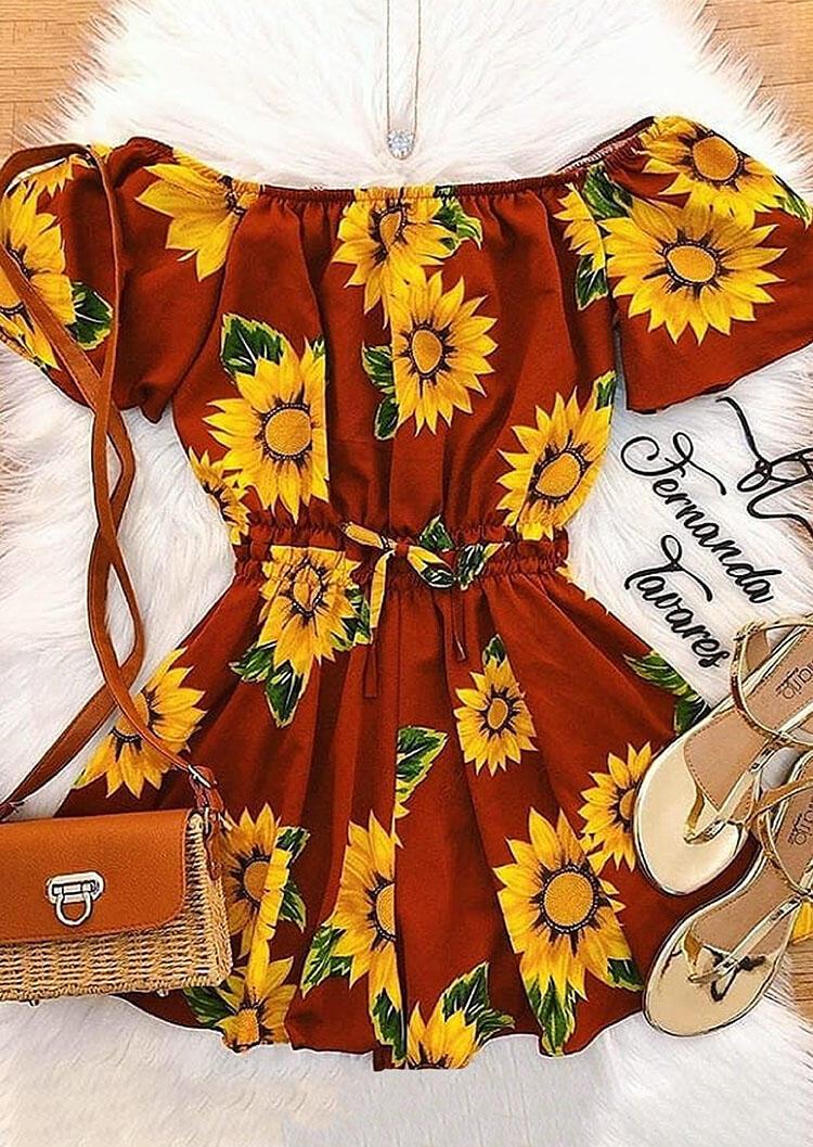 Sunflower Ruffled Tie Mini Dress