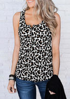 Summer New Arrivals Leopard Zipper Tank