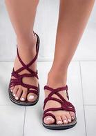 Solid Braid Platform Sandals