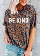 New Arrivals Leopard Be Kind T-Shirt Tee
