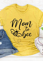 New Arrivals Mom To Bee O-Neck T-Shirt Tee