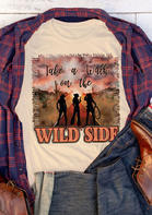 Summer Outfits Women Take A Walk On The Wild Side T-Shirt Tee - Light Yellow