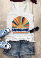 Sunshine Rainbow O-Neck Tank