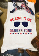 Summer Outfits Welcome To The Danger Zone Tank