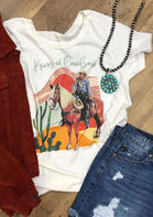New Arrivals King Of Cowboys Cactus T-Shirt Tee
