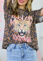 New Arrivals Leopard Long Live Rock & Roll T-Shirt Tee