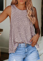 Leopard Printed Casual Tank