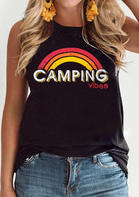 New Arrivals Summer Camping Vibes Rainbow Tank