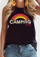 Summer Camping Vibes Rainbow Tank