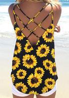 New Arrivals Women Sunflower Criss-Cross Camisole