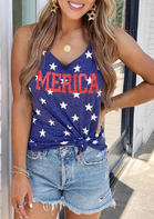 Merica Star Tank - Navy Blue