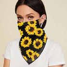 Sunflower Earloop Face Veil