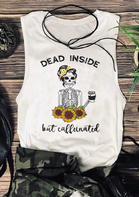 Dead Inside But Caffeinated Sunflower Tank