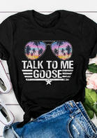 Summer Outfits Talk To Me Goose Glasses Star T-Shirt Tee