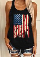 New Arrivals Women American Flag Star Tank