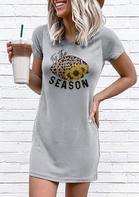 New Arrivals Women Sunflower Leopard It is The Season Mini Dress