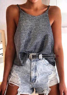New Arrivals O-Neck Casual Camisole - Gray
